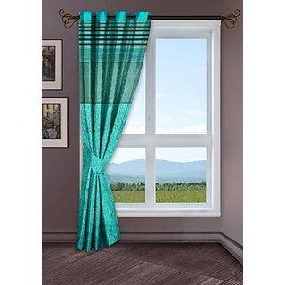 Story @ Home Aqua 1 pc Window curtain-5 feet-WCL1001