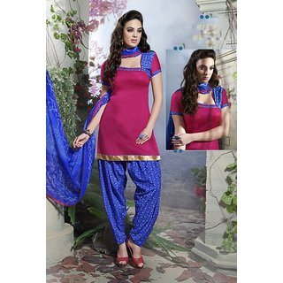 Riti Riwaz Pink Ladies Indian Dress Material with matching duppata 5SP5011