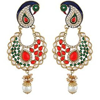 Shining Diva Multicolor Peacock Earrings (6796er)
