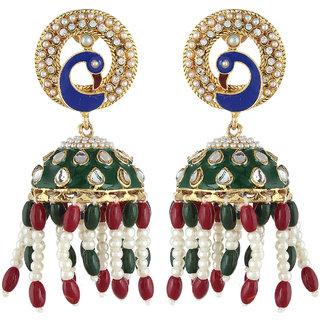 Shining Diva Unique Style Peacock Style Jhumki Earrings (6808er)