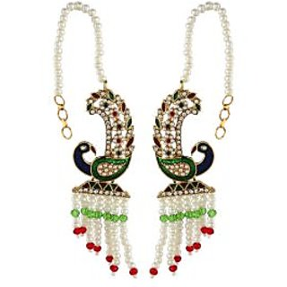 Shining Diva Multicolor Peacock Ear Cuff Earrings (6810er)