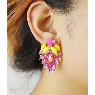 Alloy Pink Cinderella Earrings (r6303er)