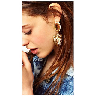 Alloy Gold Cinderella Earrings (r6313er)