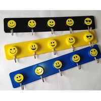 Plastic Smiley Hooks Big 3 Pc Set