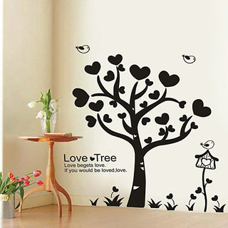 Asmi Collections Wall Stickers Wall Stickers Love Tree XY1023