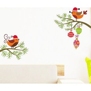 Asmi Collections Wall Stickers Swinging Love Birds JM8333