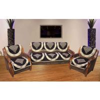 JBG Home Store Superior Chocolaty  Sofa Cover Set ( Set Of 10) Design 7