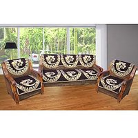 JBG Home Store Superior Chocolaty  Sofa Cover Set ( Set Of 10) Design 8