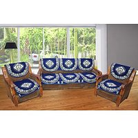 JBG Home Store Decorative Blue Sofa Cover Set ( Set Of 10)