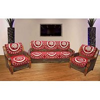 JBG Home Store Decorative Maroon Sofa Cover Set ( Set Of 10)
