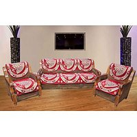 JBG Home Store Elegant Marron  Sofa Cover Set ( Set Of 10)