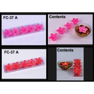 Flower Shape 04 Floating Candles Set(Pink Colour)