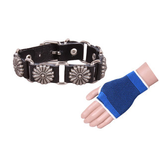 Jstarmart Floral Punch Wrist Band Combo Palm Support
