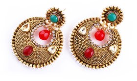 Ruby antique earrings
