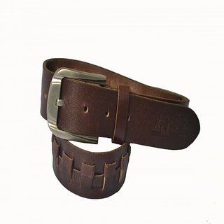 Rags Style Genuine Leather Stylish Casual Brown Belt For Men