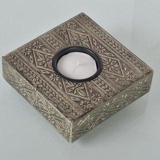 Trendz white metal tea light