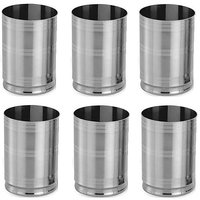 Stainless Steel 6 Pcs Glass