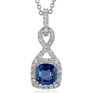 Zevrr Sterling Silver Pendant Made With Swarocski Zirconia (Pzsp03103)