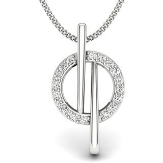 Zevrr Sterling Silver Pendant Made With Swarocski Zirconia (Pzsp03114)