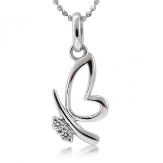 Zevrr Sterling Silver Pendant Made With Swarocski Zirconia (Pzsp03133)