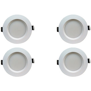 Bene LED 5w Faro Round Ceiling Light, Color of LED Red (Pack of 4 Pcs)
