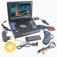 3D Portable DVD Player 9.8 Inch TFT Screen, Play MP3 Movies Games