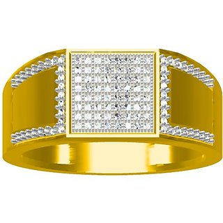 Sakshi Jewels 6.04 Gram 18K Gold 0.33 Carat VVS-FG Diamond Gents Ring