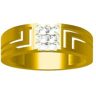 Sakshi Jewels 4.54 Gram 18K Gold 0.26 Carat VVS-FG Diamond Gents Ring.