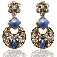 Kriaa Exclusive Round Earrings in Blue  -  1304512