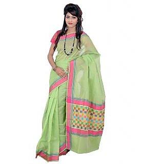 ea3c89ebbb4f8 Banarasi Light Green Super Net Cotton Silk Sarees exclusive for Women