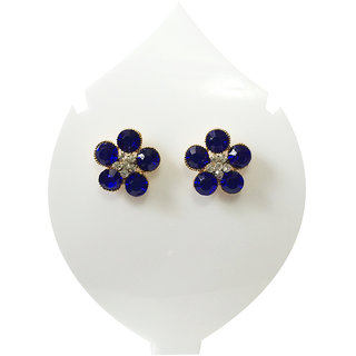 Verceys Blue Stud Earring Set