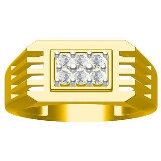 Sakshi Jewels 6.05 Gram 18K Gold 0.32 Carat VVS-FG Diamond Gents Ring.