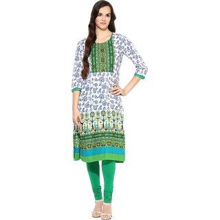 Fpc creations Green Printed Cotton Kurti