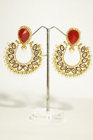 The Pari Yellow Gold Plated Zircon Alloy Drop Earring