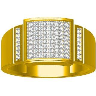 Sakshi Jewels 5.58 Gram 18K Gold 0.31 Carat VVS-FG Diamond Gents Ring.