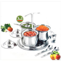 Pickle Pot Chutney Tray Stainless Steel