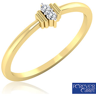 Serenity Diamond Ring In 14k Yellow Gold From Forevercarat
