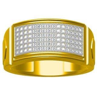 Sakshi Jewels 6.65 Gram 18K Gold 0.45 Carat VVS-FG Diamond Gents Ring.