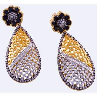 Black contrast earrings