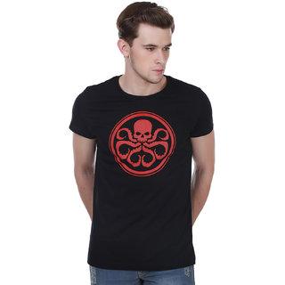 White Kalia Men'S I Support Hydra Black Printed T- Shirt