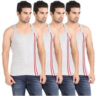 Zippy Men's Smart Sleeveless Grey Vest (Pack of 4)