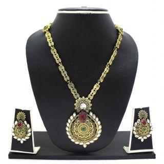 Zaveri Pearls Exotic Haram Necklace Set-ZPFK2961