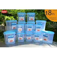 CHETAN 18 PC SET,KITCHEN STORAGE CONTAINERS @ 1320/- ONLY FREE DELIVERY.