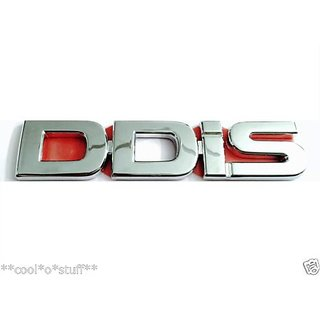 LOGO DDiS MONOGRAM EMBLEM CHROME Maruti Suzuki Swift Dzire Ritz Wagon R