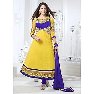 Riti Riwaz Yellow Fency Churidar Suits BIB3009
