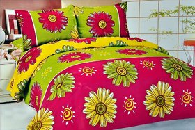 K Dcor  Printed  Double Bed Sheet (KT-13)