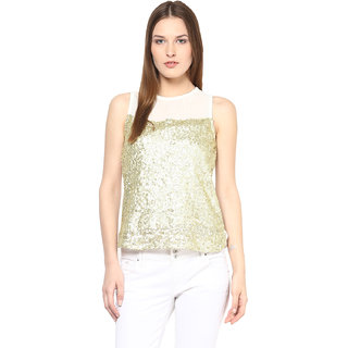 Harpa White Embroidered Crepe Top