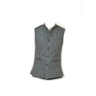 Grey Nehru Jacket (woolen) L-40
