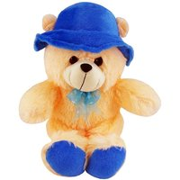 Cute Teddy Bear With Cap And Ribbon