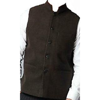 Nehru Jacket (chocolate/linen blend) M-38